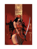 Elektra The Hand No.1 Cover: Elektra Fighting Prints by Bill Sienkiewicz