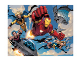 The Mighty Avengers 8 Group: Iron Man, Ms. Marvel, Sentry and Wonder Man Posters par Mark Bagley