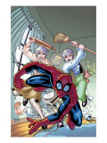 Marvel Adventures Spider-Man No.13 Cover: Spider-Man, and May Parker Posters by Patrick Scherberger