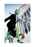 She-Hulk No.7 Cover: She-Hulk and Valkyrie Fighting Prints