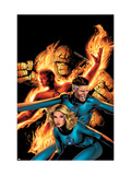 Marvel Knights 4 14 Cover: Mr. Fantastic, Invisible Woman, Human Torch, Thing and Fantastic Four Print by Land Greg