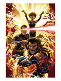 Ultimatum: X-Men Requiem 1 Cover: Wolverine, Cyclops, Grey and Jean Affiches par Mark Brooks