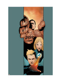 Ultimate Fantastic Four No.20 Cover: Thing, Mr. Fantastic, Invisible Woman and Human Torch Art
