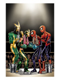 Spider-Girl 81 Cover: Spider-Girl, Spider-Man, Electro and Aftershock Posters by Ron Frenz