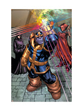 What If? Newer Fantastic Four #1 Group: Thanos, Death and Mephisto Arte por Patrick Scherberger