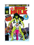 Hulk Family: Green Genes 1 Cover: She-Hulk, Walters and Jennifer Affiches par John Buscema