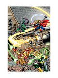 Avengers No.16 Cover: Thor, Iron Man, Firestar, Thunderball, Bulldozer, Avengers and Wrecking Crew Posters by Jerry Ordway