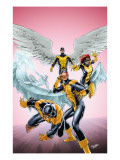 X-Men: First Class 11 Cover: Cyclops, Beast, Angel, Iceman and Marvel Girl Art by Carlo Pagulayan