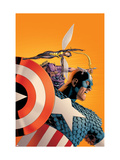 Avengers 77 Cover: Captain America, Wasp, Hawkeye and Avengers Print by John Cassaday