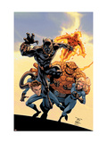 Fantastic Four Tales 1 Cover: Black Panther Prints by Green Randy