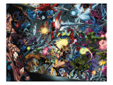 Venom: Dark Origin No.3 Group: Hulk, Spider-Man, Dr. Doom and Captain America Prints by Medina Angel