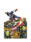 Captain America V4, No.26 Cover: Captain America Prints by Dave Johnson