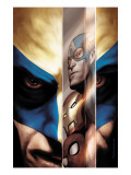 Wolverine 40 Cover: Wolverine, Captain America, Iron Man and Spider-Man Prints by Javier Saltares