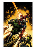 Siege: The Cabal 1 Cover: Dr. Doom and Iron Patriot Posters par David Finch
