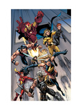 The Mighty Avengers 7 Group: Ms. Marvel Print by Mark Bagley