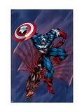 Captain America & The Falcon No.4 Cover: Captain America and Falcon Poster by Bart Sears