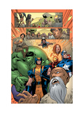 Marvel Adventures The Avengers No.14 Group: Captain America Prints by Kirk Leonard