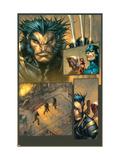 Ultimates 3 No.3 Headshot: Wolverine Kunstdrucke von Joe Madureira