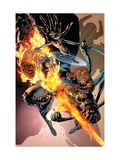 Fantastic Four 557 Cover: Thing, Human Torch, Mr. Fantastic and Invisible Woman Prints by Bryan Hitch