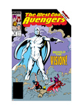 Avengers West Coast No.45 Cover: Vision Poster by Byrne John