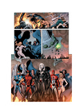 Dark Avengers No.7 Group: Emma Frost, Wolverine, Mimic, Weapon Omega and Dagger Prints by Ross Luke