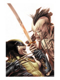Wolverine Origins No.35 Cover: Wolverine and Daken Prints by Doug Braithwaite