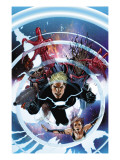 Guardians of the Galaxy 13 Cover: Havok, Hulk, Summers, Rachel, Rocket Raccoon and Groot Posters par Salvador Larroca