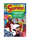 Tales Of Suspense 52 Cover: Crimson Dynamo, Iron Man and Black Widow Fighting Posters par Don Heck