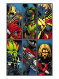 Guardians Of The Galaxy No.2 Group: Gamora, Rocket Raccoon and Adam Warlock Posters by Pelletier Paul