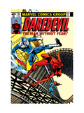 Daredevil 161 Cover: Daredevil, Bullseye and Black Widow Kunstdrucke von Frank Miller