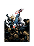Captain America No.3 Cover: Captain America, Carter and Sharon Prints by Steve Epting