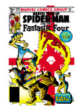 Marvel Team-Up No.100 Cover: Spider-Man, Mr. Fantastic, Invisible Woman, Human Torch and Thing Schilderijen van Frank Miller