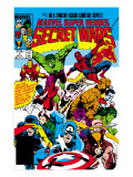 Secret Wars No.1 Cover: Captain America Kunstdrucke von Mike Zeck