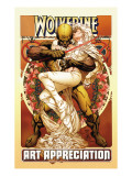 Wolverine Art Appreciation One-Shot Canvas Cover Cover: Wolverine and Emma Frost Affiches par Joe Quesada