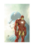 Fallen Son: The Death Of Captain America5 Cover: Captain America and Iron Man Prints by Michael Turner