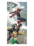X-Men/Spider-Man 1 Cover: Spider-Man, Marvel Girl, Cyclops and Beast Posters par Alberti Mario