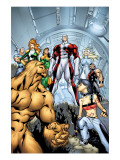 Alpha Flight 6 Cover: Sasquatch, Major Mapleleaf and Alpha Flight Posters by Henry Clayton