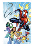 King-Size Spider-Man Summer Special No.1 Cover: Spider-Man, Mary Jane Watson and She-Hulk Poster by Salva Espin
