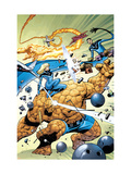 Marvel Adventures Fantastic Four No.31 Cover: Thing and Invisible Woman Prints by Kirk Leonard
