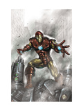 Indomitable Iron Man 1 Cover: Iron Man Prints by Lucio Parrillo