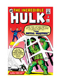 The Incredible Hulk No.6 Cover: Hulk and Metal Master Fighting Prints by Steve Ditko