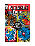 Fantastic Four 106 Cover: Mr. Fantastic Print by John Romita Sr.