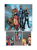 Marvel Knights 4 20 Group: Black Bolt, Medusa, Lockjaw, Triton, Karnak and Inhumans Poster von De Landro Valentine