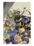 Uncanny X-Men: First Class 4 Cover: Wolverine, Cyclops, Phoenix, Storm and Nightcrawler Posters par Roger Cruz
