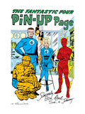 The Fantastic Four 15: Mr. Fantastic, Invisible Woman, Human Torch, Thing and Fantastic Four Print by Jack Kirby