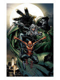 Spider-Man Unlimited 14 Cover: Black Cat, Dr. Doom and Spider-Man Poster by David Finch