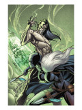 Black Panther 6 Cover: Black Panther and Morlun Prints by J. Scott Campbell