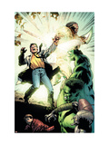 Incredible Hulk No.108 Group: Hulk, Banner, Bruce and Red King Fighting Prints by Kirk Leonard