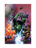 War of Kings: Savage World of Skaar No.1 Cover: Skaar, Starbolt and Gorgon Posters by Paul Pelletier