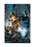Marvel Knights 4 18 Cover: Ramades, Mr. Fantastic, Invisible Woman, Human Torch and Thing Fighting Prints by Jim Muniz